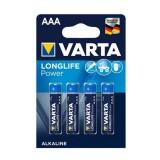4 x AAA Varta alkaline batterijen - LongLife Power